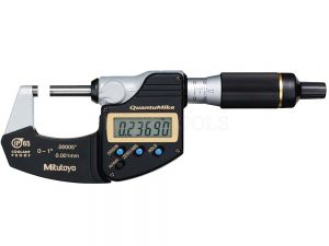 "Mitutoyo Digimatic Micrometer QuantuMike 25mm 0-1"" 0.001mm 0.00005"" Without SPC Data Output 293-185"