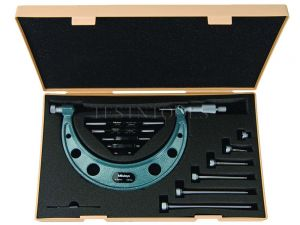 Mitutoyo Outside Micrometer 0-150mm 0.01mm With 6 Interchangeable Anvils 104-135A