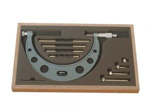 Mitutoyo Outside Micrometer 100-200mm 0.01mm With 4 Interchangeable Anvils 104-140A