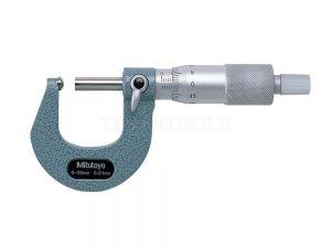 Mitutoyo Tube Micrometer 0-25mm 0.01mm Spherical Anvil Flat Spindle 115-115