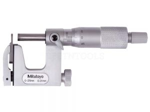 Mitutoyo Uni-Mike Micrometer 0-25mm 0.01mm Interchangeable Anvil 117-101