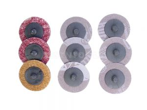 AmPro Air Sanding Pad Set 50mm 9Pc PADS-A1705