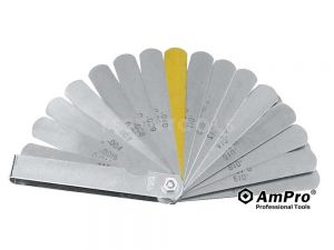 "AmPro Feeler Gauge 0.04mm - 0.88mm (0.015 - 0.035"") 32 Blades GAUF-T71321"