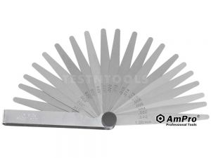 AmPro Feeler Gauge 0.05mm - 1mm 20 Blades GAUF-T71322