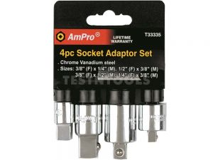 AmPro Socket Adapor Set 4Pc SOCA-T33335