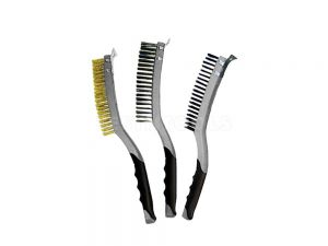 AmPro Stainless Steel Wire Brush With Scraper BRUW-T12813