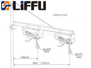 Liffu Electric Hoist Scaffold Swing Arm 1100mm HST250