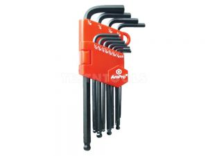 "AmPro Ballpoint Hex Key Set Long 0.05"" - 5/16"" 12 Piece WREH-T73040"