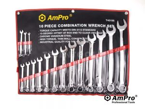 "AmPro Combination Wrench Set 1/4-1.1/4"" 16pc WREC-T40195"