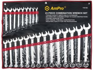 AmPro Combination Wrench Set 6-32mm 23pc WREC-T40196