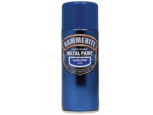 Hammerite Direct To Rust Metal Paint Aerosol Smooth Blue 400ml PAIS-040LB