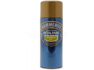 Hammerite Direct To Rust Metal Paint Aerosol Smooth Gold 400ml PAIS-040G