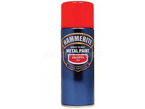 Hammerite Direct To Rust Metal Paint Aerosol Smooth Red 400ml PAIS-040R