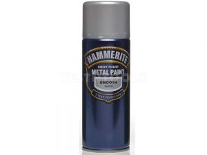 Hammerite Direct To Rust Metal Paint Aerosol Smooth Silver 400ml PAIS-040S