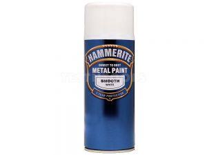 Hammerite Direct To Rust Metal Paint Aerosol Smooth White 400ml PAIS-040W