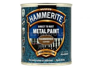 Hammerite Direct To Rust Metal Paint Hammered Finish Copper 250ml PAIH-025C