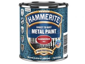 Hammerite Direct To Rust Metal Paint Hammered Finish Red 250ml PAIH-025R