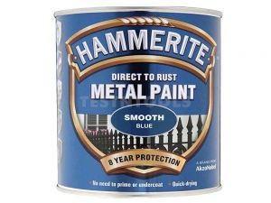 Hammerite Direct To Rust Metal Paint Smooth Blue 250ml PAIS-025LB