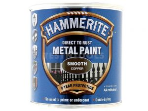 Hammerite Direct To Rust Metal Paint Smooth Copper 250ml PAIS-025C