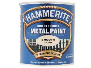 Hammerite Direct To Rust Metal Paint Smooth Cream 250ml PAIS-025CR