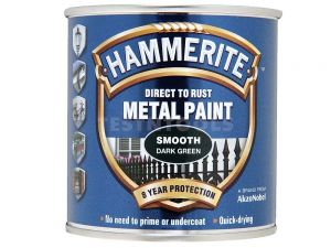 Hammerite Direct To Rust Metal Paint Smooth Dark Green 250ml PAIS-025DG