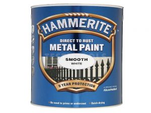 Hammerite Direct To Rust Metal Paint Smooth White 250ml PAIS-025W
