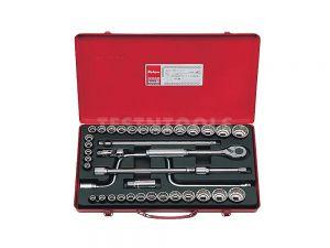"""Koken Socket Set 1/2"""" Drive 3/8 - 1.1/4"""" & 10 - 32mm 12PT 38 Piece 4238AM"""