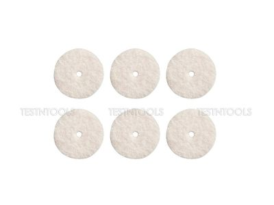 Dremel Felt Polishing Wheels 12.7mm 6 Pack 414 2615000414