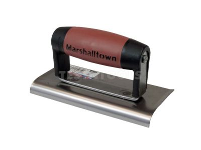 Marshalltown Carbon Steel Cementers Edger Curve End DuraSoft Handle 150mm x 75mm x 10mm MT136