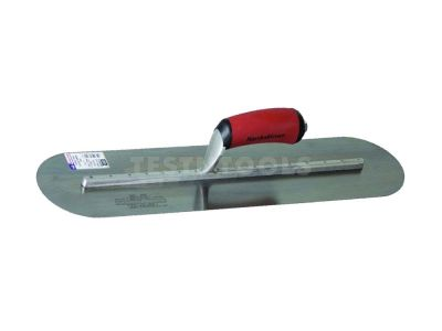 Marshalltown Carbon Steel Finishing Trowel Fully Rounded DuraSoft Handle 500mm x 125mm MTMXS205FD