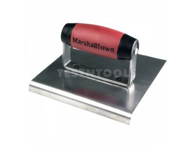 Marshalltown Stainless Steel Curve End Hand Edger DuraSoft Handle 150mm x 150mm x 10mm MT162SS
