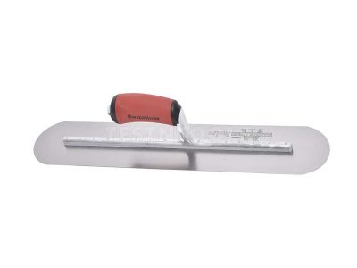 Marshalltown Carbon Steel Finishing Trowel Fully Rounded DuraSoft Handle 350mm x 100mm MTMXS64FRD