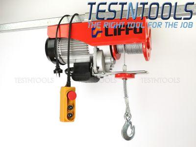 Liffu Electric Hoist 230V Wire Rope 18m 1000Kg PA1000