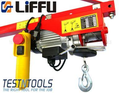 Liffu Electric Hoist 230V Wire Rope 18m 800Kg PA800