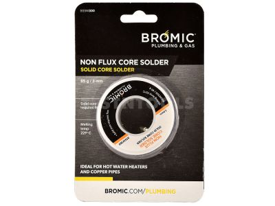 Bromic Solid Core Solder 85g (3oz) 3mm GASA-BSSW300