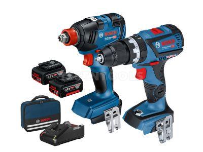 Bosch 18V 2pc 4.0Ah Brushless Combo Kit GSB+GDX 0615991FH5