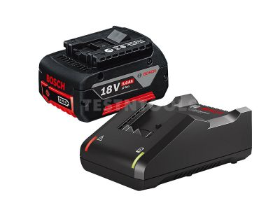 FREE TOOL WITH ORDER - Bosch Blue 18V 5.0Ah Battery and Charger Starter Package 0615990M1Z