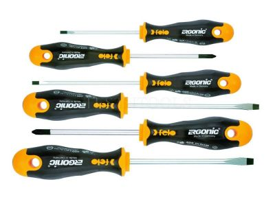 Felo 400 Series Ergonic Screwdriver Set 6 Pack SCR-S400S6