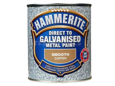 Hammerite Direct To Galvanised Metal Paint Smooth Copper 750ml PAID-075C