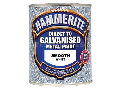 Hammerite Direct To Galvanised Metal Paint Smooth White 750ml PAID-075W