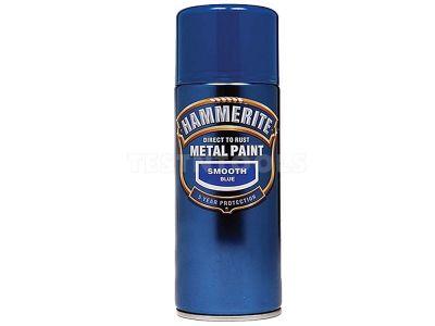 Hammerite Direct To Rust Metal Paint Aerosol Smooth Blue 400ml PAIS-040LB